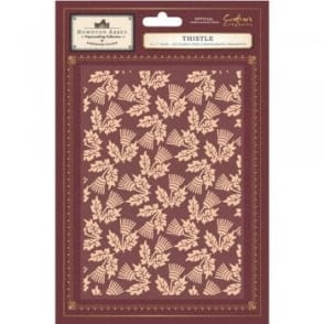Downton Abbey Embossing Folder - Thistle