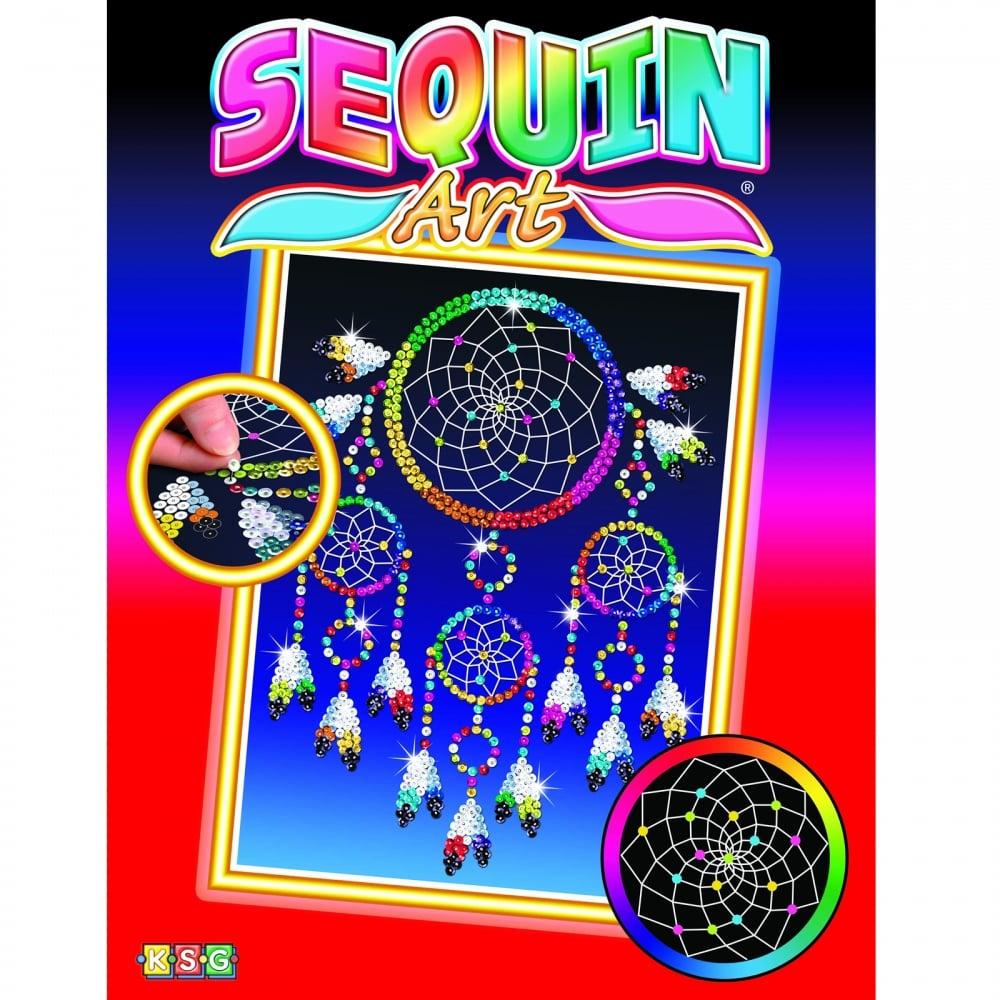 Sequin art sequin art kits 3d sequin art crafty arts dream catcher sequin art solutioingenieria Gallery