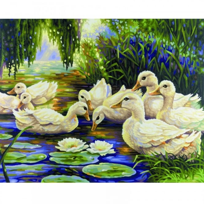 Duck Pond - Paint by Numbers