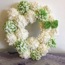 Easter Pom Pom  Wreath |2hrs | 13.30-15.30 | 2hrs | Wednesday 12th April