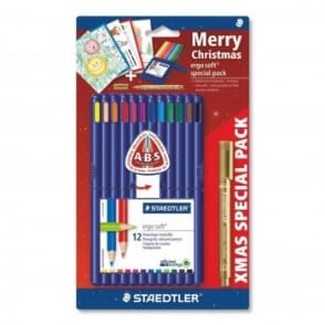 Ergo Soft Christmas Set - 12 Coloured Pencils