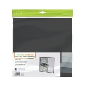 "Essential Card Pack- Grecious Greys 12"" by 12"" - 10 pack 216gsm"