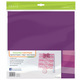 "Essential Card Pack- Magnificent Magenta 12"" by 12"" - 10 pack 216gsm"