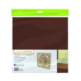 "Essential Card Pack- Natural Neutrals 12"" by 12"" - 10 pack 216gsm"