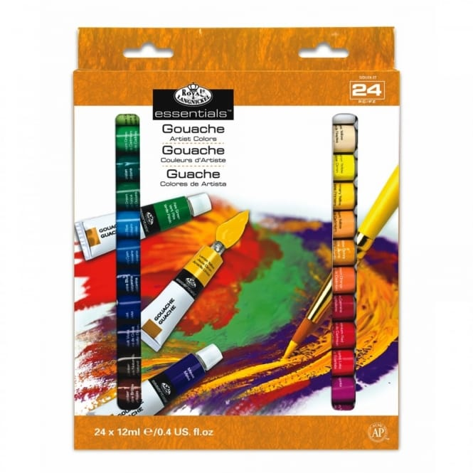 Essentials Gouache 24 x 12ml Tube Piece Set