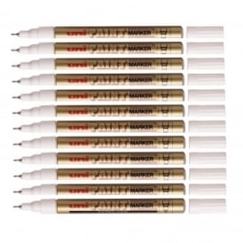 Extra Fine Oil Based Paint Marker Gold - 12 Pack
