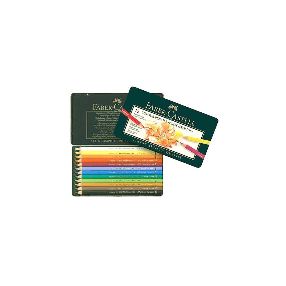 faber castell colour pencils polychromos 12 tin - faber
