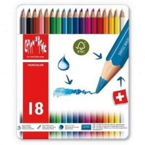 Fancolor Water Soluble Pencils 18 Tin