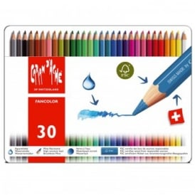 Fancolor Water Soluble Pencils 30 Tin