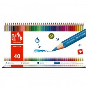 Fancolor Water Soluble Pencils 40 Tin