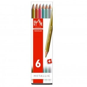 Fancolor Water Soluble Pencils 6 Box Metallic