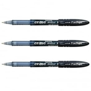 Fanthom Erasabe Rollerball Pens Pack of 3 - Black Ink