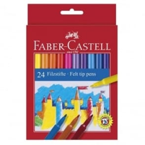 Felt Tip Coloured Pens - 24 Pack