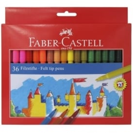 Felt Tip Coloured Pens - 36 Pack