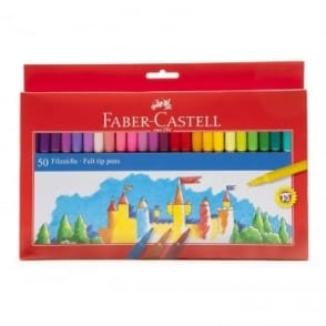 Felt Tip Coloured Pens - 50 Pack