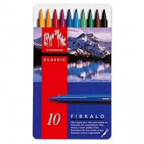 Fibralo Fibre Pens in Metal Box | Pack of 10