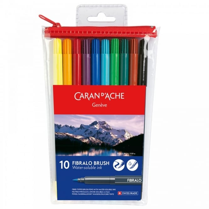 Fibralo Water Soluble Brush Pens 10 Pack