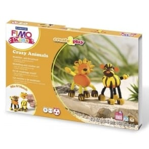Fimo Kids Create & Play Crazy Animals Set