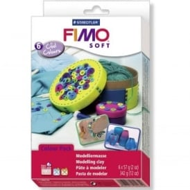 Fimo Soft Cool Colours 6 Pack
