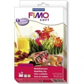 Fimo Soft Warm Colours 6 Pack