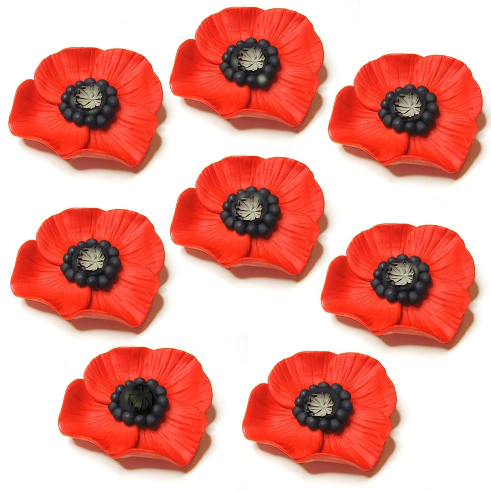 Fimo Workshops Clay Poppies For British Legion 1 Hour Slots