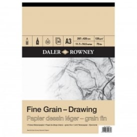 Fine Grain Drawing Gummed Pad A3