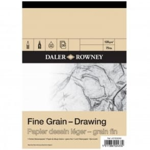 Fine Grain Drawing Gummed Pad A4