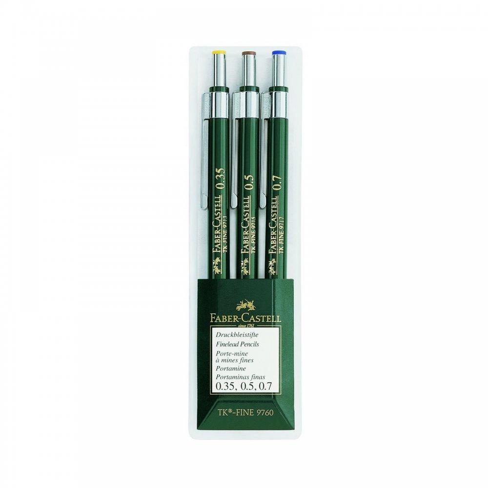 fine lead pencil mechanical pencil 3 pack 0 35 0 5 0 7