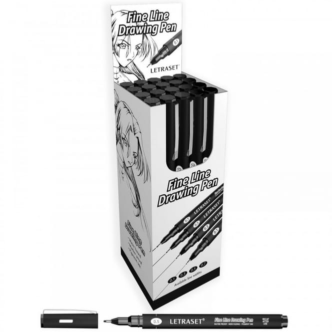 Fine Line Drawing Marker Pen 0.5 - Pack of 20