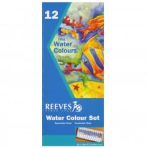 Fine Water Colours Set 12 Tubes x 12ml Tubes