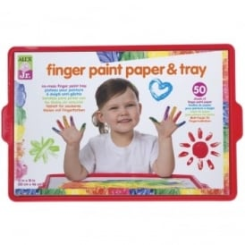 Finger Paint Paper & Tray