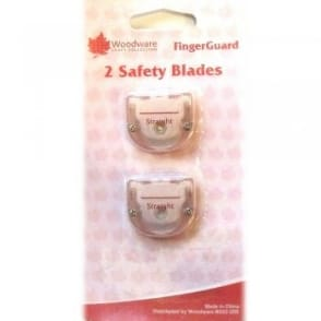Fingerguard Straight Edged Safety Blades (Pack of 2).