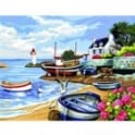 Fishing Village Large Painting By Numbers