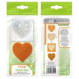 Floral Heart Set Die & Stamp