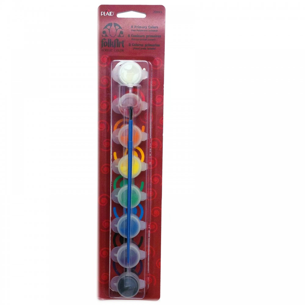 Folk art acrylic paint set plaid from uk for Arts and craft paint