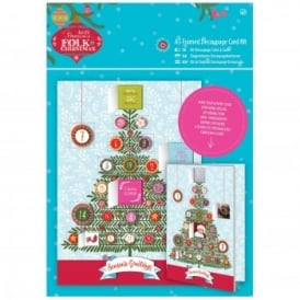 Folk Christmas A5 Decoupage Advent Card Kit