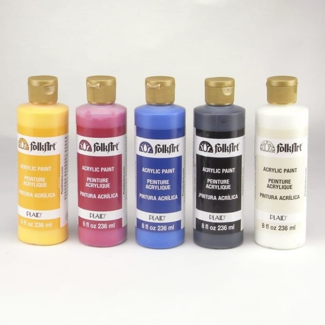 FolkArt Acrylic Paint 8oz Bottle Bundle