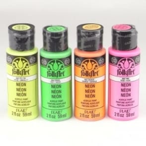 Folkart Acrylic Paint Bottle Neon Bundle