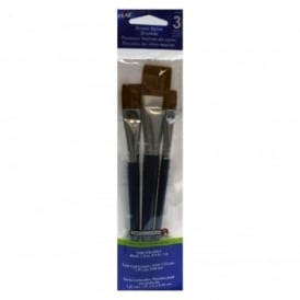 FolkArt Bronze Taklon Flat Brush set of 3