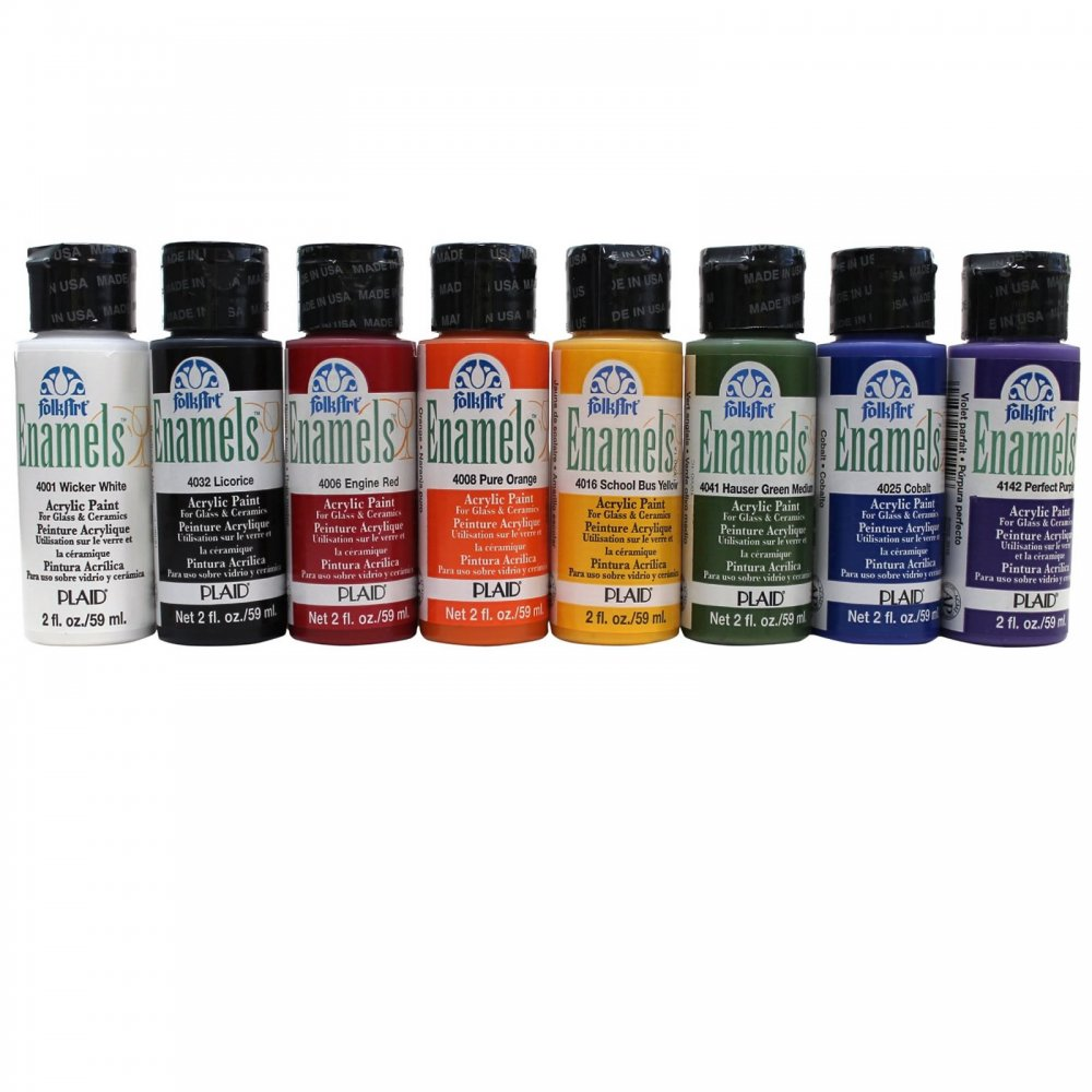 Acrylic Enamel Paint >> Folkart Enamel Paint Bottle Colours Listed