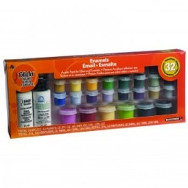 FolkArt Enamel Value 32 Piece Pack