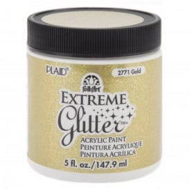 FolkArt Extreme Gold Glitter Acrylic Paint 148ml/5oz