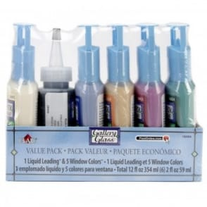 FolkArt Gallery Glass decorator pastel set
