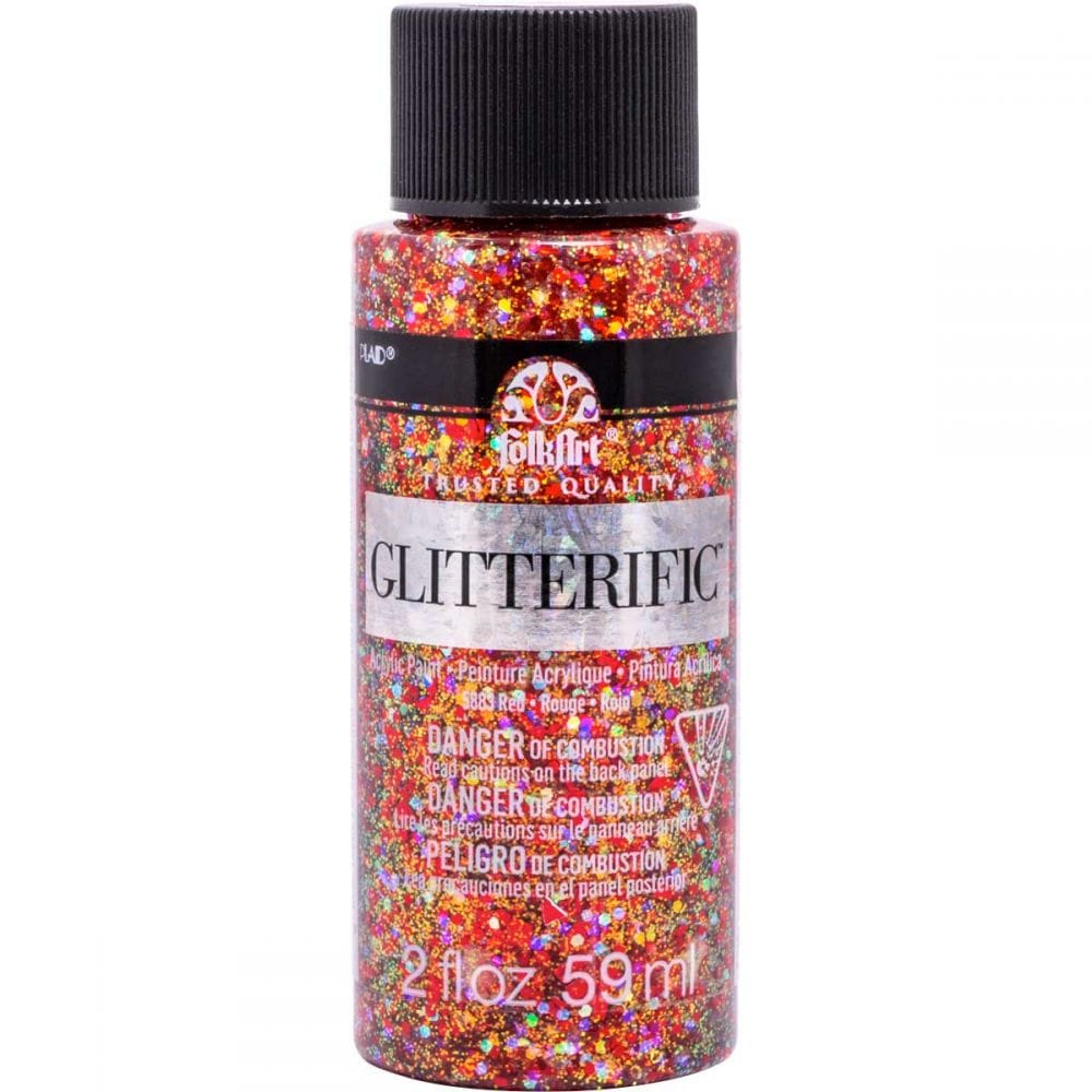 Mixed Colours Grafix 3D Glitter Glues Pack of 9