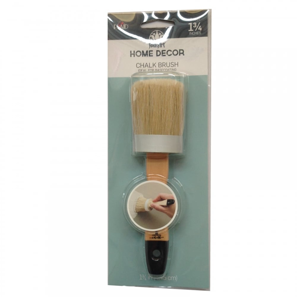 FolkArt Home Decor Chalk Paint Brush 1 34in Plaid from