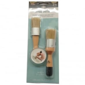FolkArt Home Decor Paint and Wax Brush Set 1 1/8in