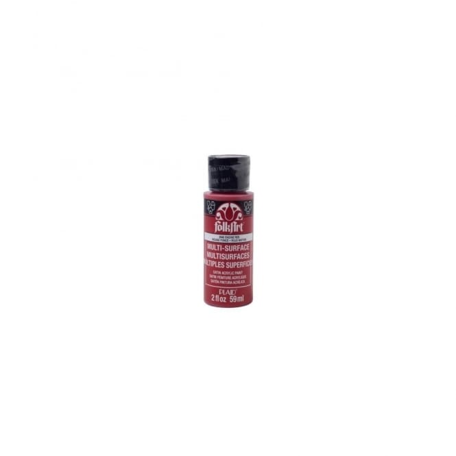 FolkArt Multi- Surface Paint in Engine Red 59ml