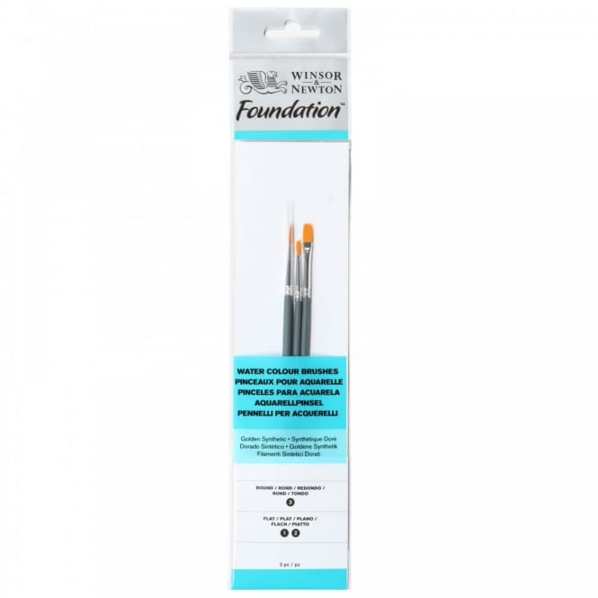 Foundation Watercolour Brushes - 3 Pack