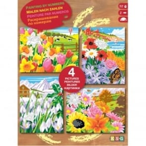 Four Seasons Paint by Number Kit