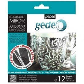 Gedeo Mirror Effect Silver Leaves - 12 Sheets